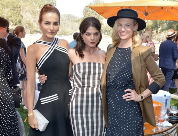 Selma Blair arrives at the Sixth-Annual Veuve Clicquot Polo Classic at Will Rogers State Historic Park. 6