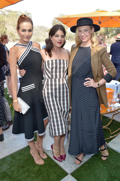 Selma Blair arrives at the Sixth-Annual Veuve Clicquot Polo Classic at Will Rogers State Historic Park. 8