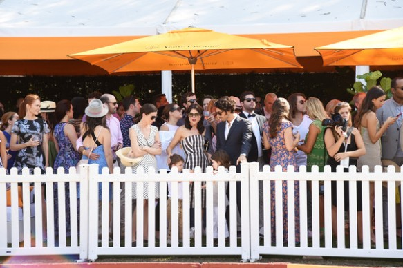 Selma Blair arrives at the Sixth-Annual Veuve Clicquot Polo Classic at Will Rogers State Historic Park. 9