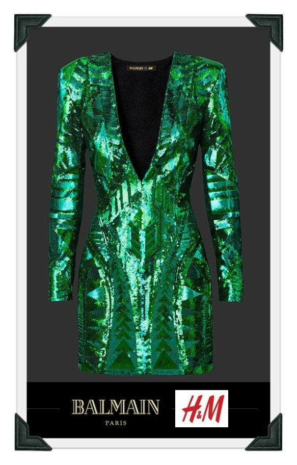 hm-x-balmain sequin dress