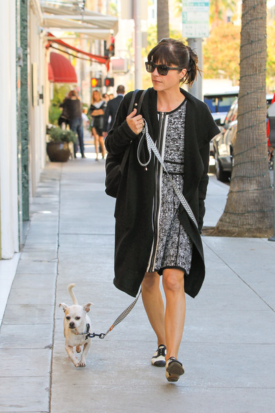 Selma Blair Takes Her New Rescue Dog Ducky For A Walk 1