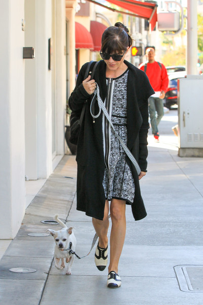Selma Blair Takes Her New Rescue Dog Ducky For A Walk 3
