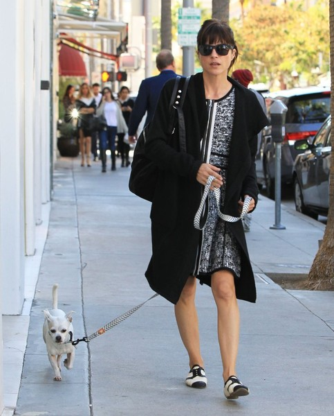 Selma Blair Takes Her New Rescue Dog Ducky For A Walk 7
