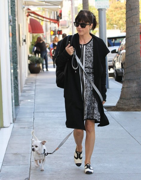 Selma Blair Takes Her New Rescue Dog Ducky For A Walk 8
