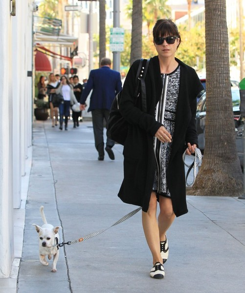 Selma Blair Takes Her New Rescue Dog Ducky For A Walk