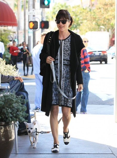 Selma Blair Takes Her New Rescue Dog Ducky For A Walk10.