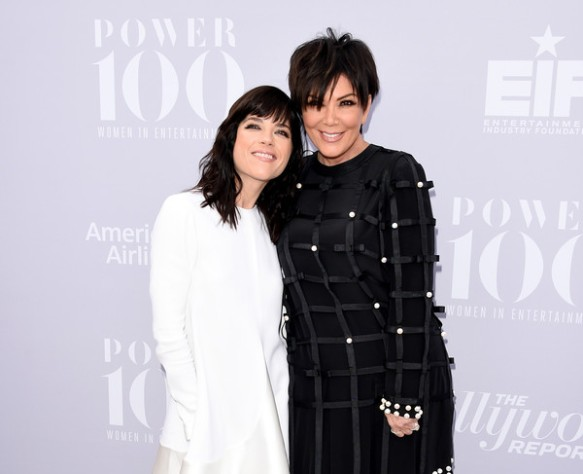 Selma Blair and Kris Kardashian on red carpet at Hollywood Reporter event 2