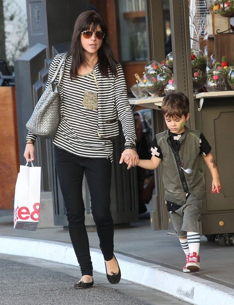 Selma Blair and son Arthur Christmas shopping at the Grove 1