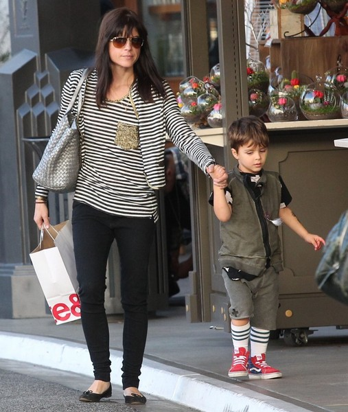 Selma Blair and son Arthur Christmas shopping at the Grove 2