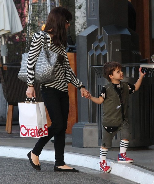 Selma Blair and son Arthur Christmas shopping at the Grove 3