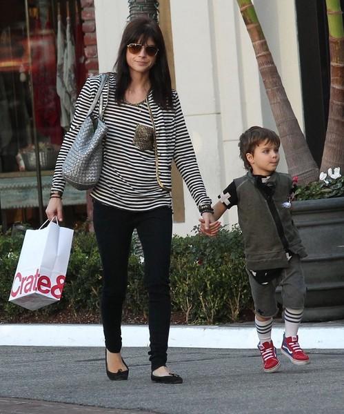 Selma Blair and son Arthur Christmas shopping at the Grove 4