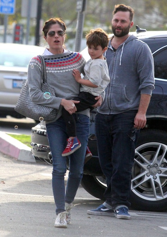 Exclusive... Selma Blair & A Friend Take Her Son To A Park