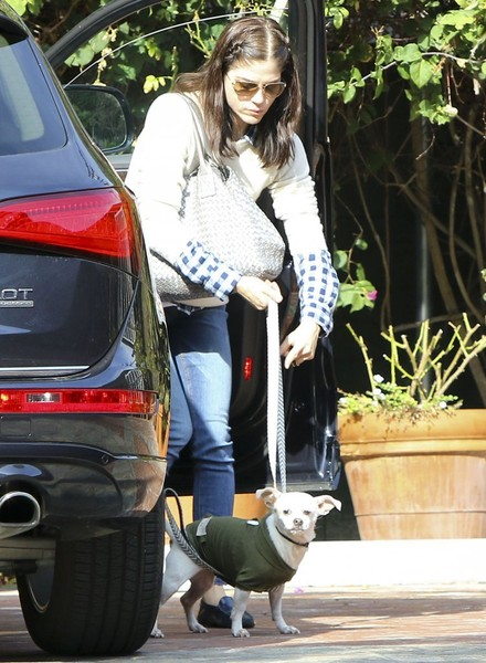 Selma Blair And Her Doggie Ducky 1