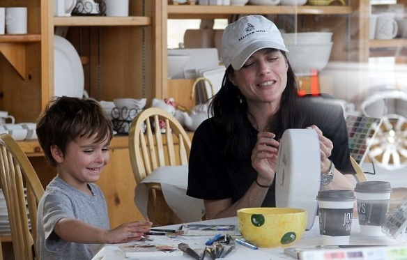 Selma Blair and son Arthur get crafty 1