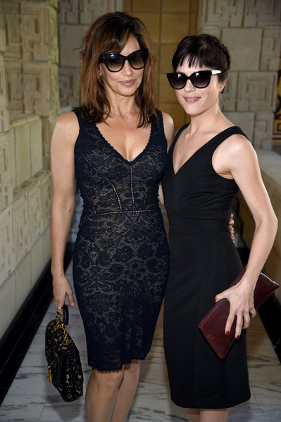 Actresses Gina Gershon and Selma Blair attend the M.A.C Cosmetics Zac Posen luncheon at the Ennis House