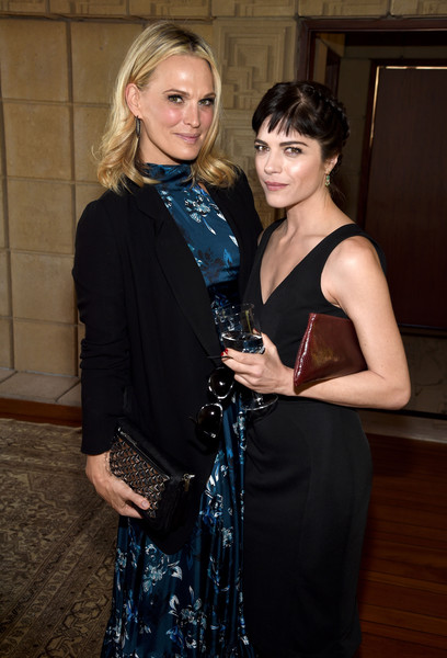Actresses Molly Sims and Selma Blair attend the M.A.C Cosmetics Zac Posen luncheon at the Ennis House