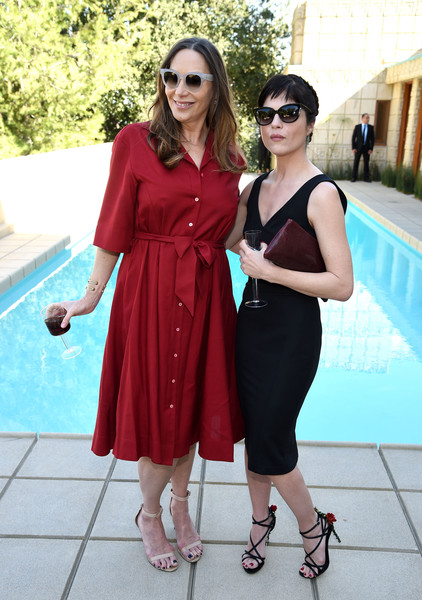 Jacqui Getty and actress Selma Blair attend the M.A.C Cosmetics Zac Posen luncheon at the Ennis House 1