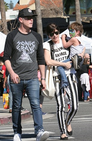 Selma Blair Spends Sunday With Her Saint 6