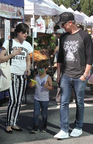 Selma Blair Spends Sunday With Her Saint 7