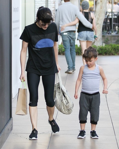 Selma Blair and son Arthur pick up new kicks at the Grove 2