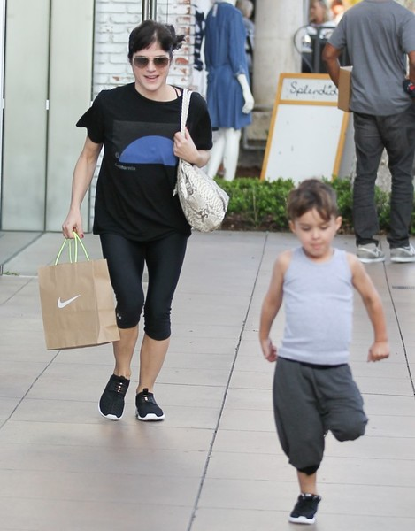 Selma Blair and son Arthur pick up new kicks at the Grove 4