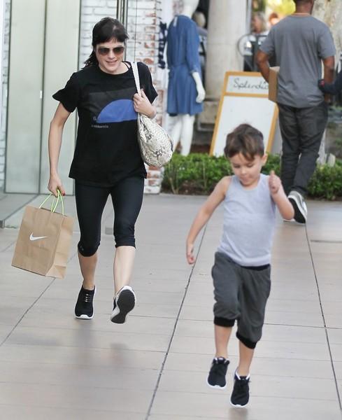Selma Blair and son Arthur pick up new kicks at the Grove 5