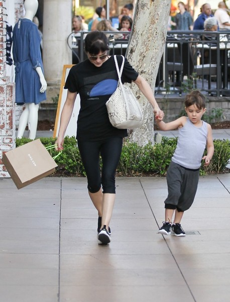 Selma Blair and son Arthur pick up new kicks at the Grove 6