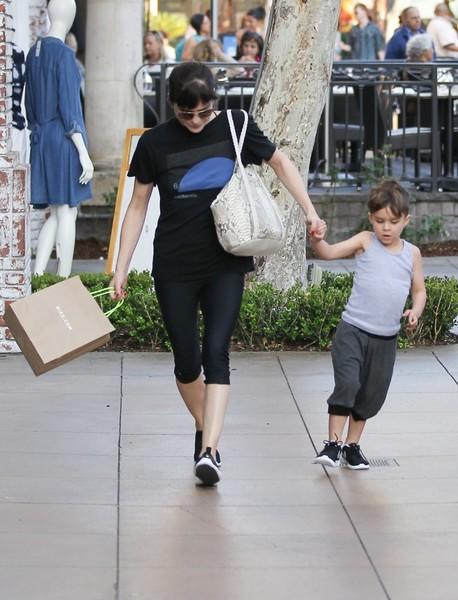 Selma Blair and son Arthur pick up new kicks at the Grove 6