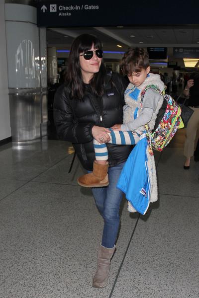 Selma Blair Arrives at LAX with son Arthur 2