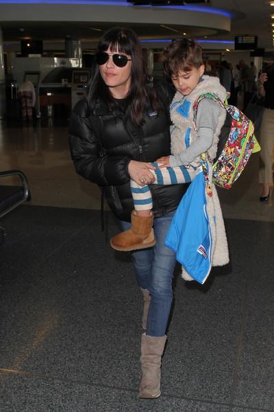 Selma Blair Arrives at LAX with son Arthur 3