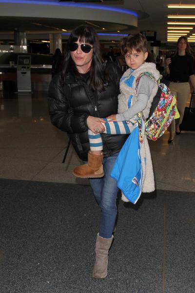 Selma Blair Arrives at LAX with son Arthur 4