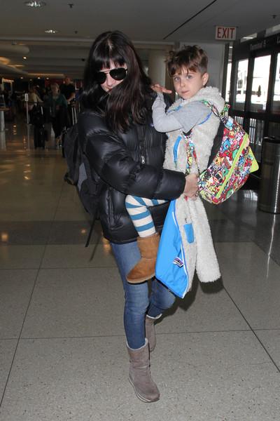 Selma Blair Arrives at LAX with son Arthur 5