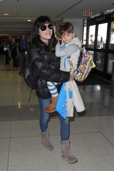 Selma Blair Arrives at LAX with son Arthur 6