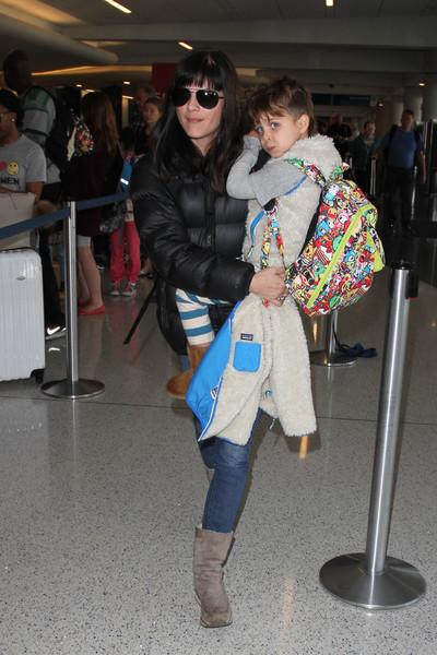 Selma Blair Arrives at LAX with son Arthur 8