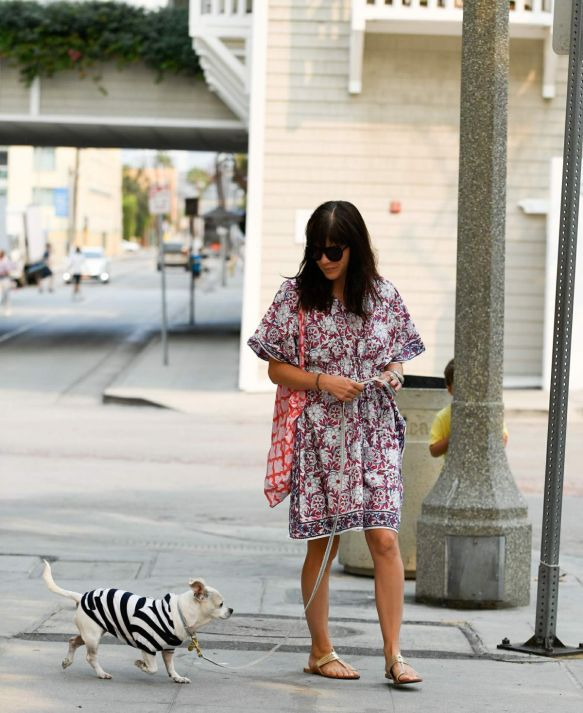 Selma Blair Walks Her Dog Ducky In Santa Monica 1