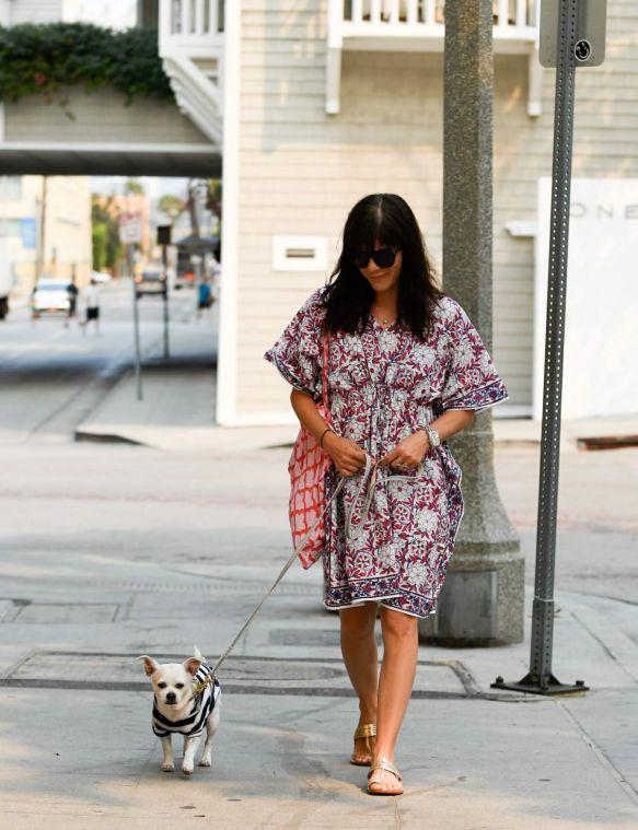 Selma Blair Walks Her Dog Ducky In Santa Monica 2