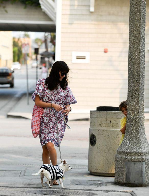Selma Blair Walks Her Dog Ducky In Santa Monica 3